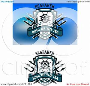 Clipart of Maritime Nautical Trident Helm Anchor and ...