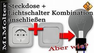 Lichtschalter Mit Licht : steckdose lichtschalter kombination anschlie en von m1molter youtube ~ A.2002-acura-tl-radio.info Haus und Dekorationen