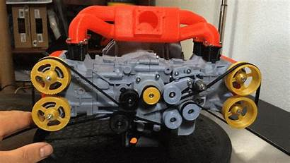 Engine Subaru 3d Printed Flat Four Boxer