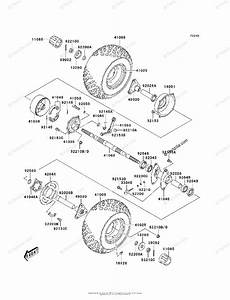 Kawasaki Atv 2005 Oem Parts Diagram For Rear Hub