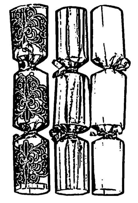 christmas crackers  printable coloring pages