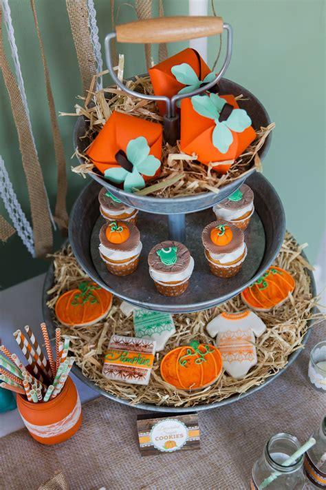 rustic  pumpkin baby shower creative juice