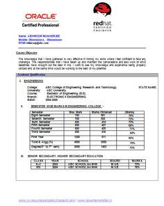 Electronic Resumes Sles by Awesome One Page Resume Sle For Freshers Career
