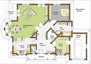 Bungalow Mit Garage Bauen : grundriss bungalow 120 qm mit garage ~ Lizthompson.info Haus und Dekorationen