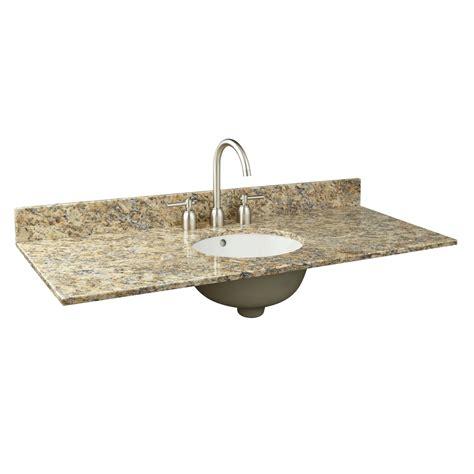 vanity tops with sink 49 quot x 19 quot granite vanity top for undermount sink single