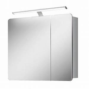 Spiegelschrank 55 Cm Breit : salsa prisma led spiegelschrank breite 80 cm mit beleuchtung mdf wei bauhaus ~ Indierocktalk.com Haus und Dekorationen