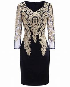 Long sleeve embroidered cocktail dress for women over 40 for Wedding dresses for women over 40