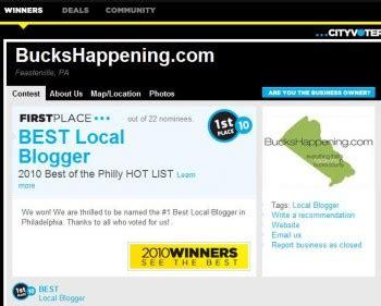 best blogger 5 bucks happening wins philly s quot best quot bucks