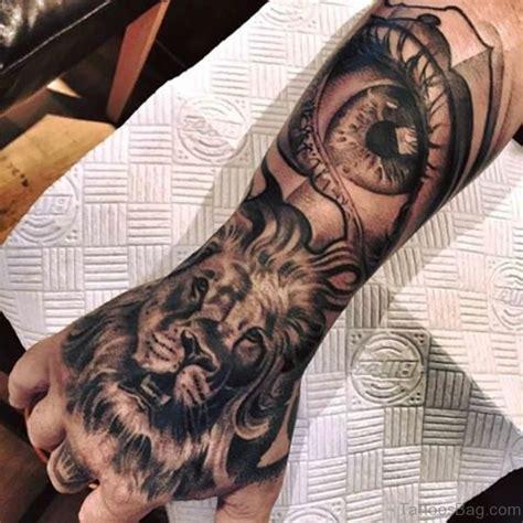 elegant lion tattoos  hand