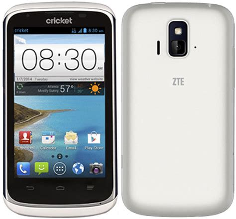 zte android phone zte sonata z740g android smartphone for cricket wireless