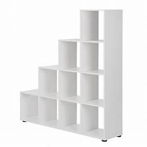 Regal Hochglanz Weiß : raumteiler treppe wei hochglanz b cherregal standregal b cher wohnzimmer regal ebay ~ Frokenaadalensverden.com Haus und Dekorationen