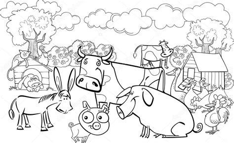 Cena Kleurplaten by Farm Animals For Coloring Book Stock Vector 169 Izakowski