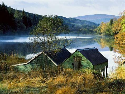 photo  boat houses aberfoyle scotland tourist attraction