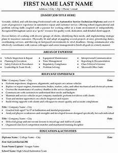 automotive service technician resume sample template With tech resume writing service