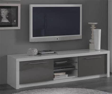 meuble tv plasma fano laqu 233 blanc et gris brillant blanc gris brillant l 150 x h 50 x p 50