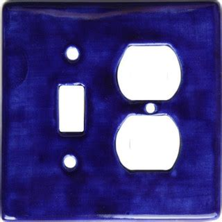 blue talavera toggle outlet switch plate southwestern
