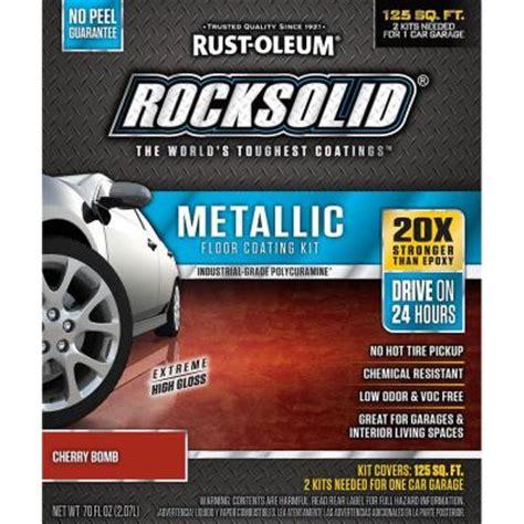 rustoleum garage floor kit rust oleum rocksolid 70 oz metallic cherry bomb garage