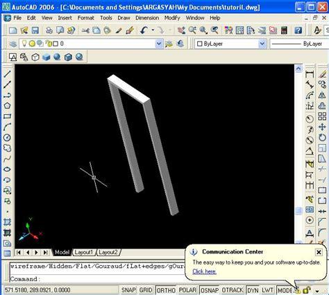 menggambar desain rumah  autocad  desain