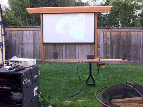 Backyard Theater Screen by Make It To Look Like A Pergola Can The Screen Retract Or