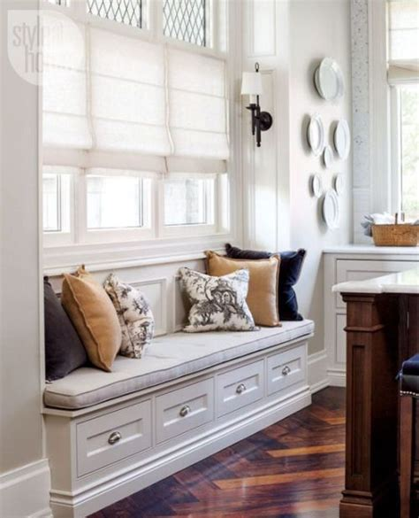 built  seating traditional decor window seat kitchen