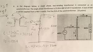 Solved  Diagram Below  A Single Phase  Two