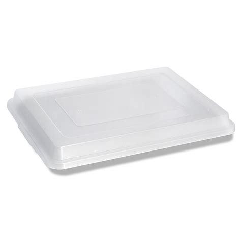 sheet pan plastic lids thru cookie sheets snap crestware pans baking half saratoga locking amazing jacks cooling jack today translucent