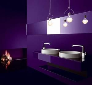 33 cool purple bathroom design ideas digsdigs With deep purple bathroom