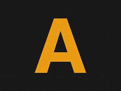 Abc Alphabet Dribbble Gifs Animated Animation Letters