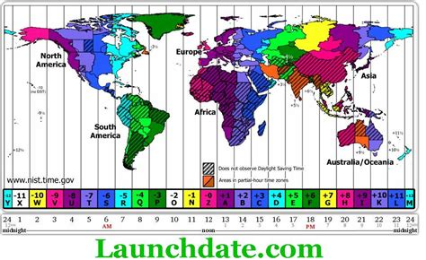 launchdate world time zone map