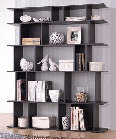 Living Room Bookshelves Modern by This Brown Tilson Modern Bookcase By Baxton