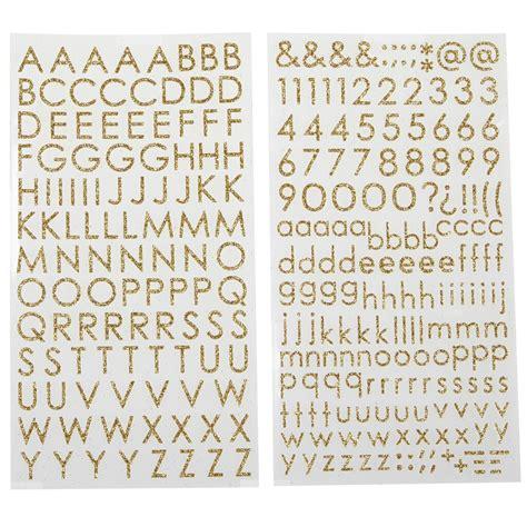 glitter block alphabet stickers  recollections
