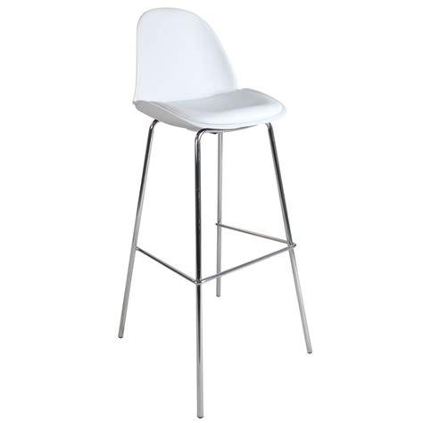 chaise haute design blanche et m 233 tal 40x109x49cm bacca