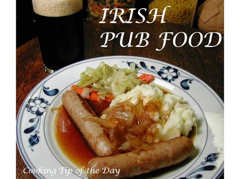 pub cuisine cooking tip of the day pub food