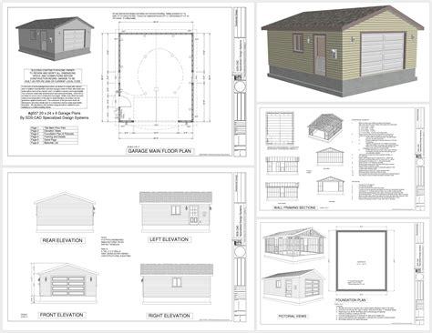 stunning x garage plans photos g507 20 x 24 x 8 garage plans sds plans