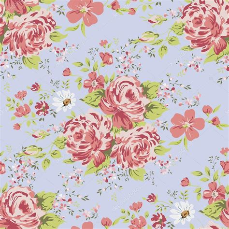 vintage tapete blumen tapete nahtlose vintage rosa blumen muster auf blauem hintergrund stockvektor 169 ka lou 75656915