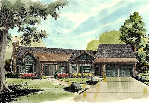 Rustic Walkout Ranch House Plan 12930KN Architectural