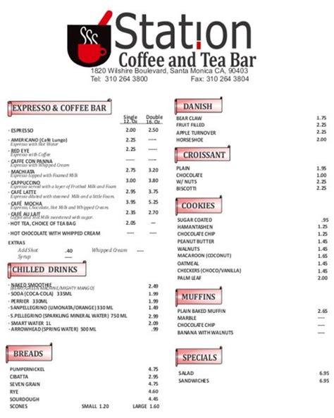 tea menu tea service menus station pharmacy coffee and tea menu daily special meals menus pinterest