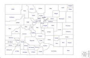 Colorado County Map Outlines