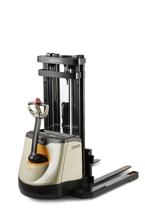 The new Crown SX 3000-40 walkie straddle stacker has 4,000 ...