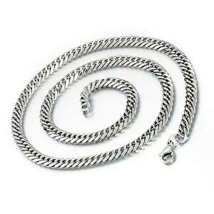 mendino mens stainless steel necklace flat cuban curb
