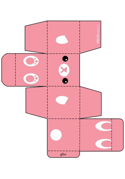 3d template http fc03 deviantart net fs50 f 2009 289 7 c pink bunny gift box template by soupcomplex jpg