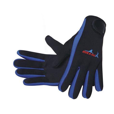 senter led selam dive sail sarung tangan selam scuba diving size m blue
