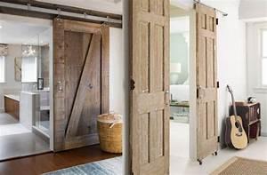 Meilleure image faire une porte coulissante avec une for Porte de garage coulissante et porte intérieure ancienne