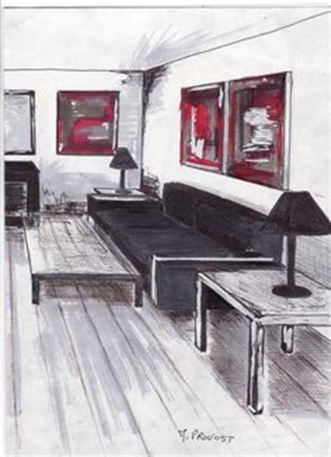 comment dessiner un canapé en perspective comment dessiner un salon deco perspective