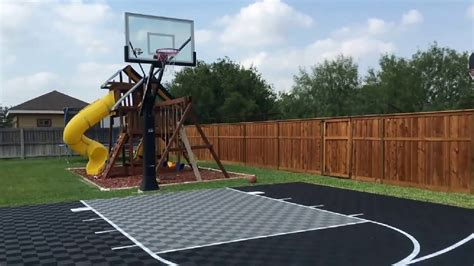 How To Make A Court In Your Backyard by Outdoor Basketball Court