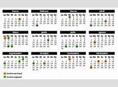 Calendario 2017 con festivos 6 2019 2018 Calendar