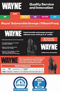 Wayne 1  2 Hp Cast Iron Sewage Pump With Tether Float