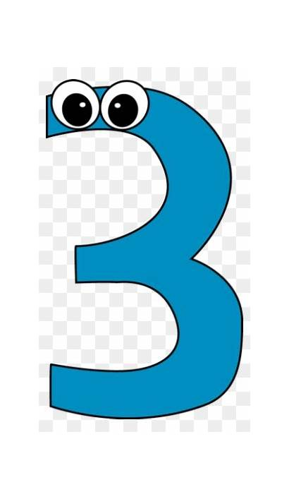 Clipart Numbers Number Cartoon Three Clipartmax