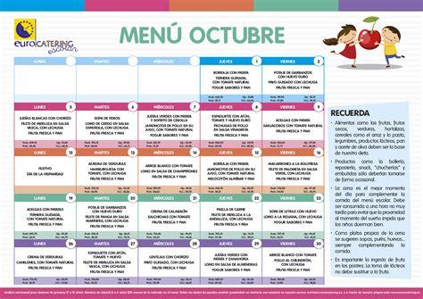 menu comedor men 218 del comedor de octubre colegio p 218 blico juan pablo bonet