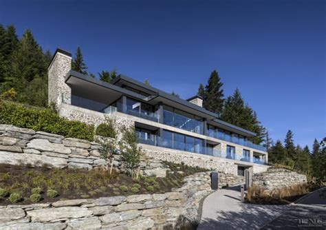homes built into hillside large house on difficult steep slope is partly dug into